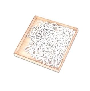 Alfabet drewniany 104el (CR0365/18A-298) biały (1)