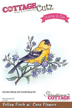 Wykrojnik Yellow Finch with Cone Flowers (CCS-033) (1)