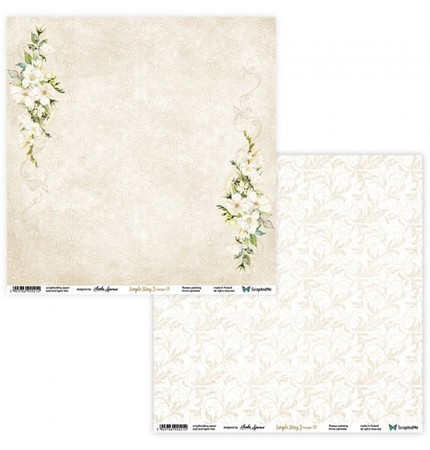 S&M Arkusz 30x30cm Simple Story 3 Beige 01/02 (1)