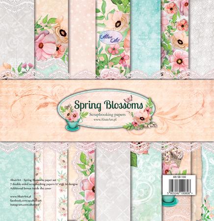 Zestaw papierów 30x30 Altair Art - Spring Blossoms (1)